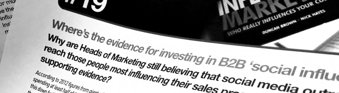 WP#19: Where's the evidence for investing in B2B 'social influencers'?