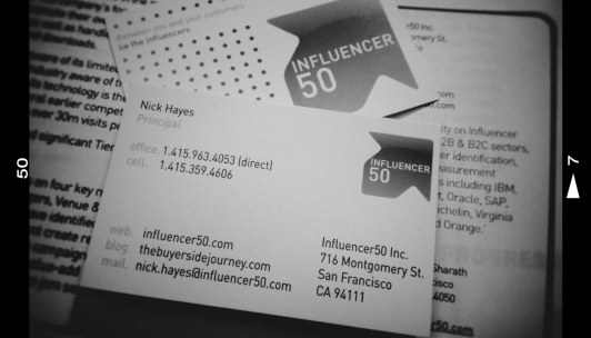 Influencer50, Nick Hayes, Influencer Marketing, Influencer50.com, The Buyerside Journey.com, Influencer Communities